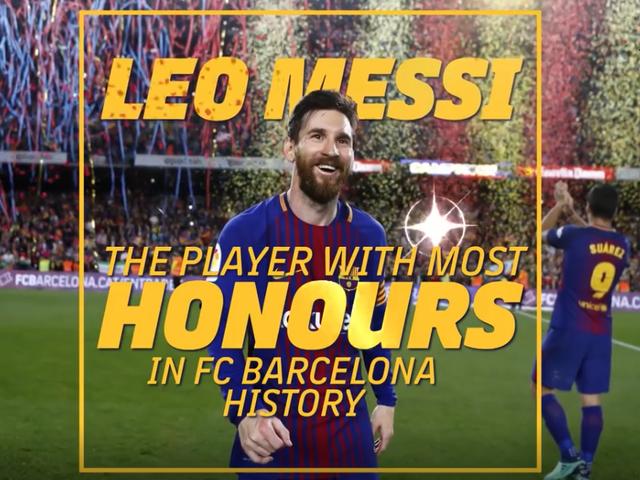 视频-巴萨历史第一人!官方视频祝贺梅西俱乐部第33冠