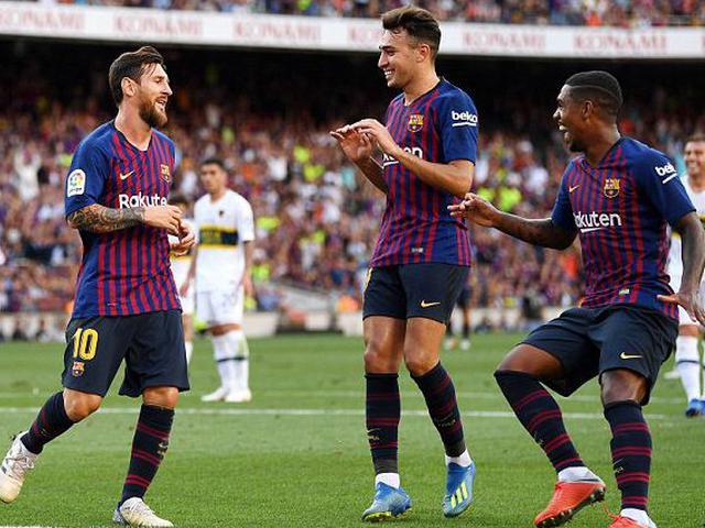视频集锦-梅西传射新援破门 巴萨3-0博卡夺甘伯杯