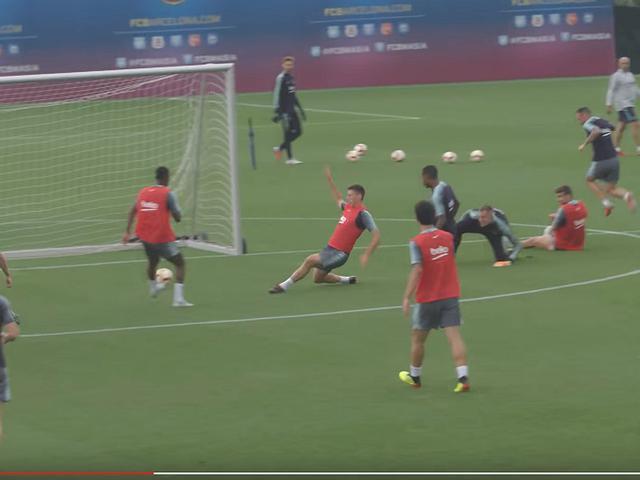 视频-巴萨新赛季首战前最后一练 梅西梅开二度
