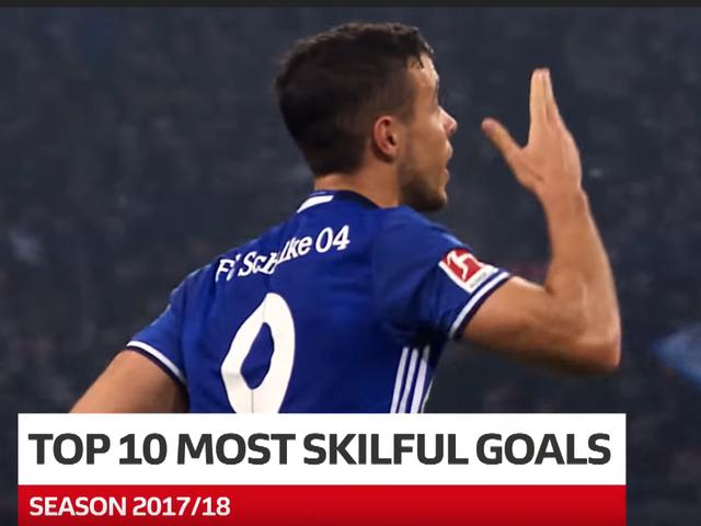 视频-德甲17/18赛季十大高难度进球 赫克托名列榜首