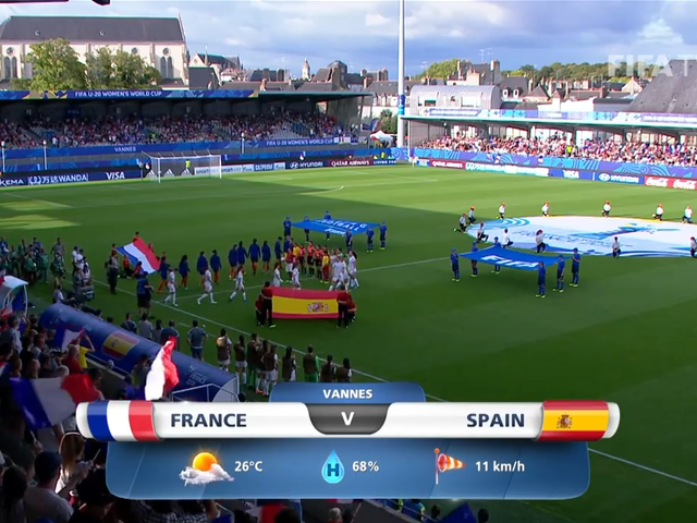 视频集锦-U20女足世界杯 西班牙1-0胜法国晋级决赛
