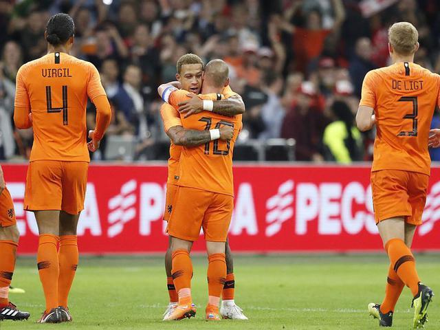 集锦-德佩两球斯内德告别 热身赛荷兰2-1逆转秘鲁
