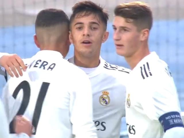 视频-皇马JuvenilA2-1中央陆军U19 青年欧冠小组全胜