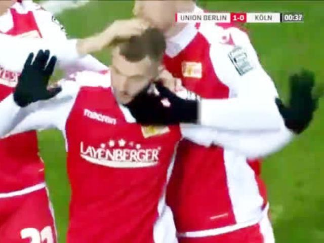 视频-德国乙级比赛现超强倒钩 完美弧线直挂死角