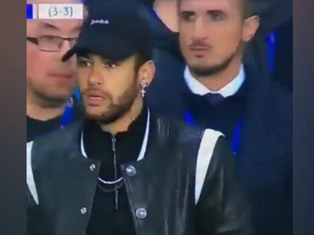 视频-欧冠大巴黎遭曼联逆转 内马尔在场边一脸懵