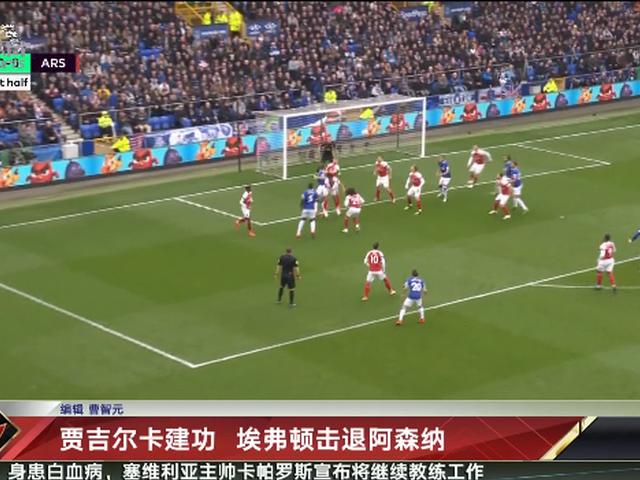 视频-贾吉尔卡建功  埃弗顿主场1-0击退阿森纳