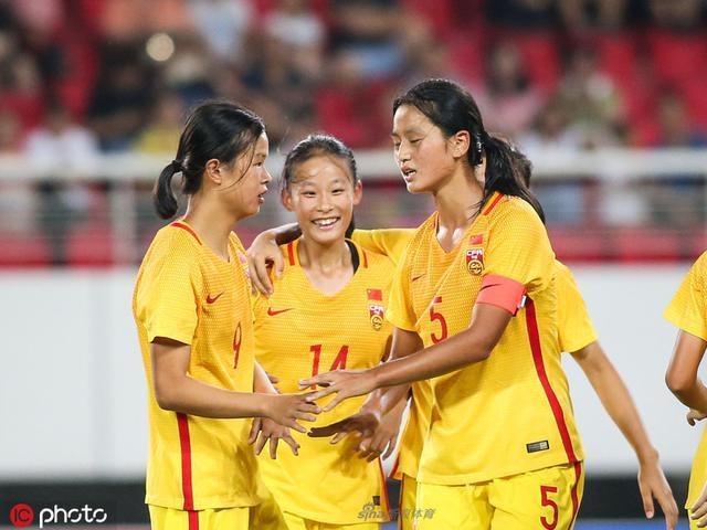 女足亚少赛:中国2比0韩国