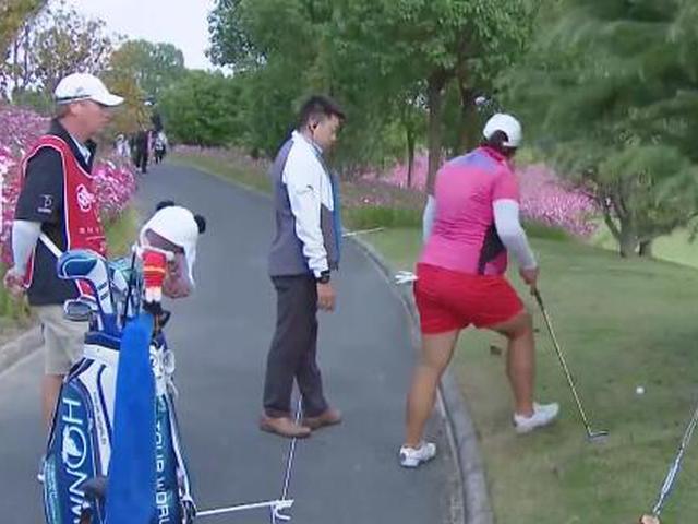 视频-冯珊珊别克LPGA遇规则棘手案例 冯力源执裁