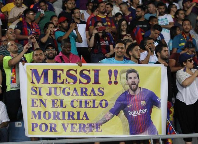 梅西受到摩洛哥球迷欢迎