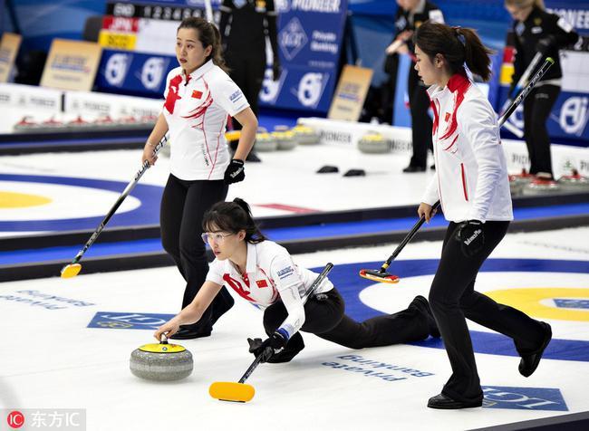 冰壶世锦赛中国女队夺两连胜