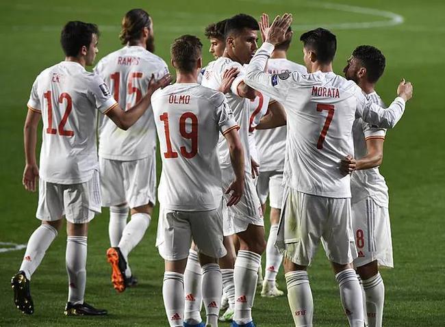 世预赛-莫拉塔进球 拉莫斯替身送点 西班牙1-1平