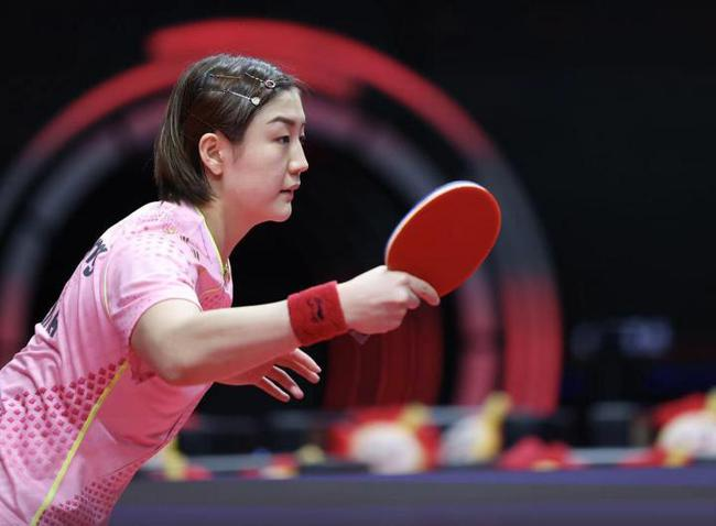 奥运模拟赛陈梦第6局连下6分 4-2孙颖莎夺女单冠军