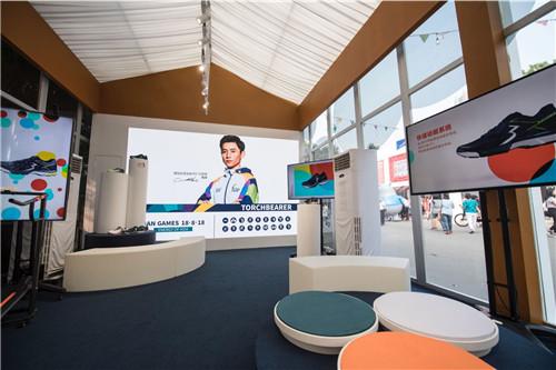 """361°""""热爱之家""""在雅加达亚运会期间展示361°产品的科技和技术含量"""
