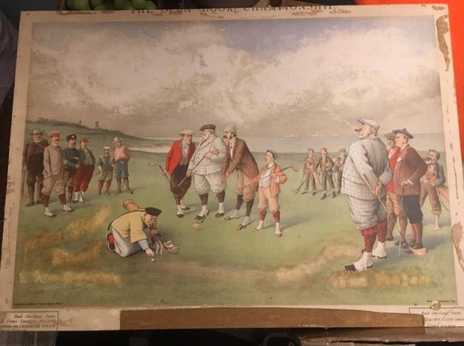 高尔夫收藏与历史之28 高尔夫漫画《威海卫1898》