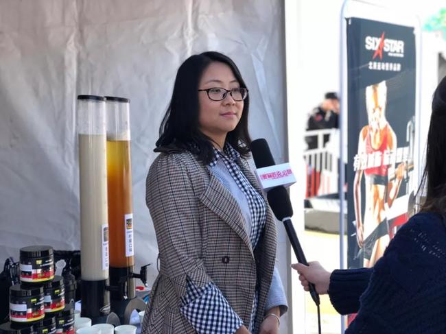 北京奥威特运动营养科技有限公司市场副总监 赵丹女士 接受媒体采访