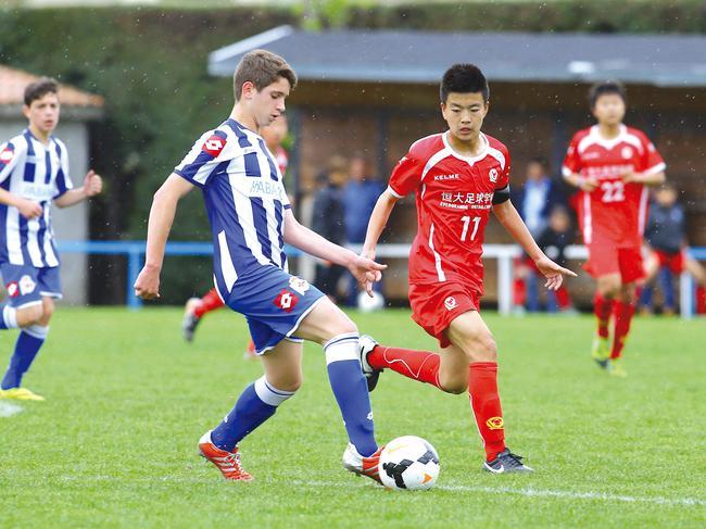 恒大足校梯队经常性参与国际赛事