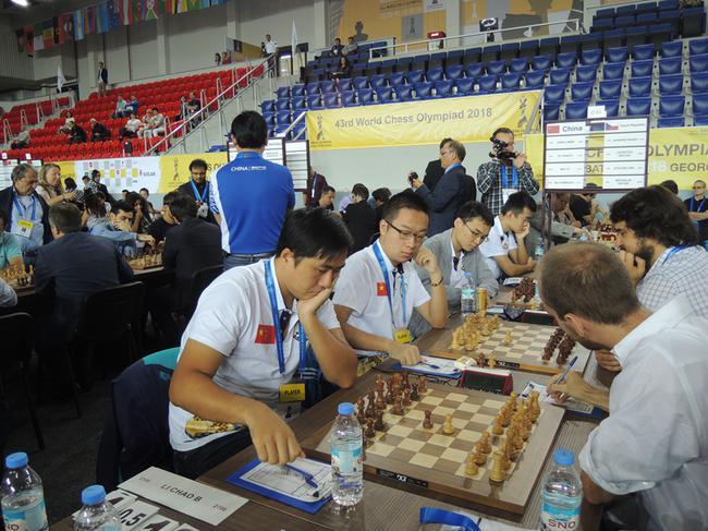 中国国象队员在比赛