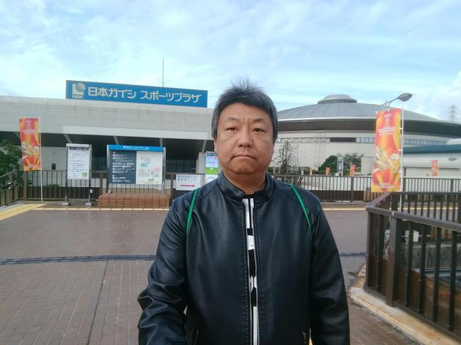 在日本名古屋赛场外