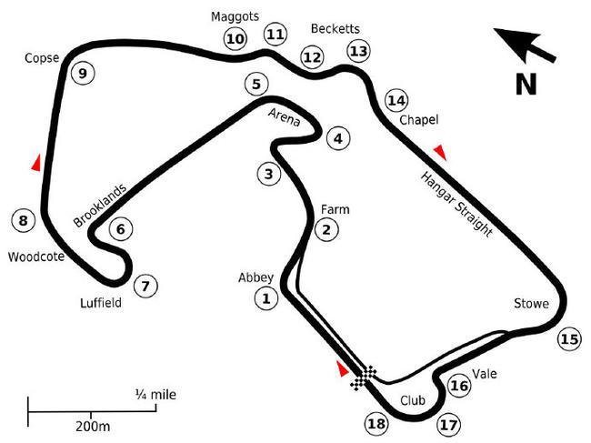 倍耐力前瞻英国大奖赛:轮胎将经受高速弯的考验