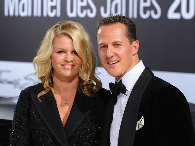 科琳娜与丈夫迈克尔-舒马赫