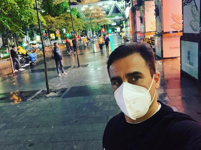卡纳瓦罗晒照分享中国防疫成果:广州的夜晚|图