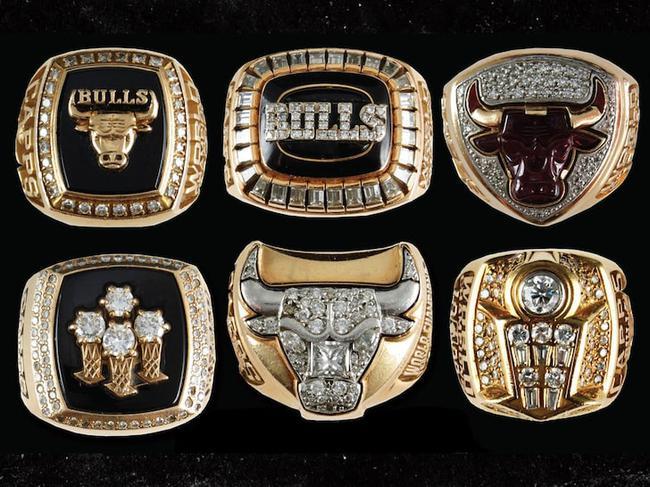 公牛六冠全套戒指正在拍卖 拥有者曾在队52年