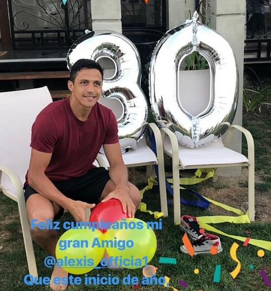 桑切斯30岁生日开大趴