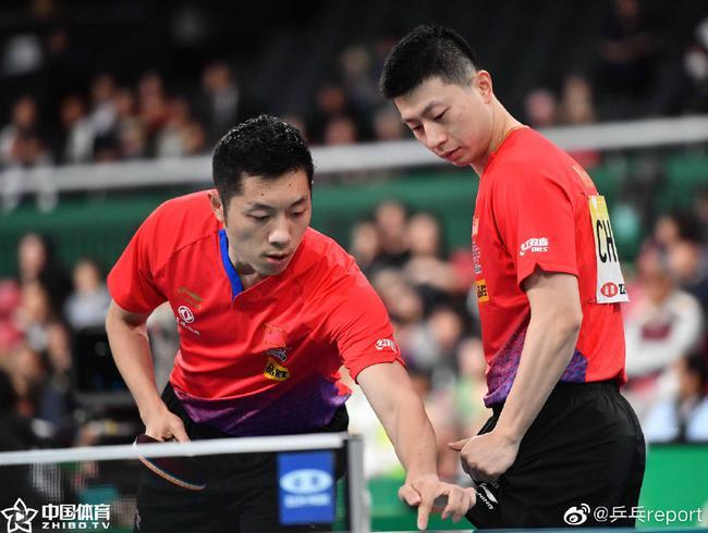 世界杯国乒男队横扫中国台北 小组赛全胜晋级八强
