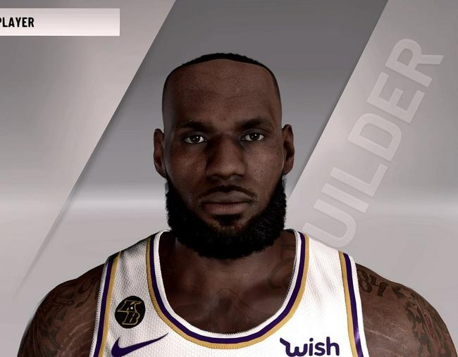 NBA2k22詹姆斯半身像引热议 发际线太夸张了