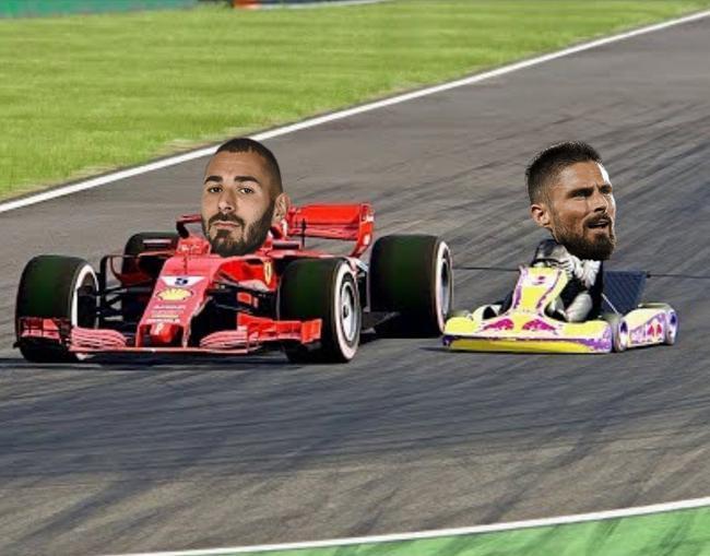 西媒重提本泽马鄙视吉鲁言论:我是F1赛车他是卡丁车