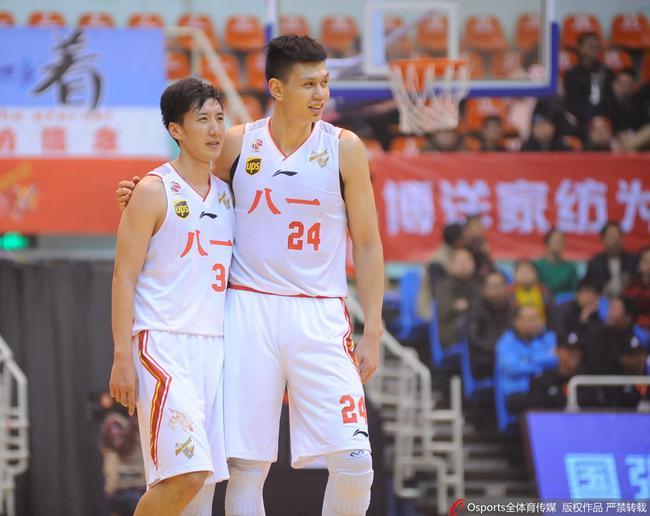 许钟豪和韩硕两位老将仍是八一队主心骨