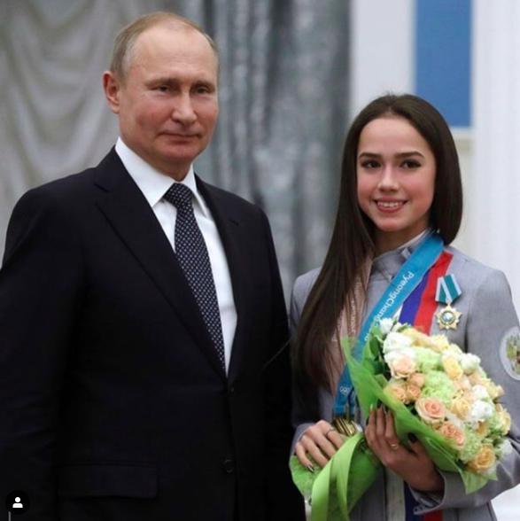 普京祝福扎吉托娃18岁生日:延续了花滑优良传统