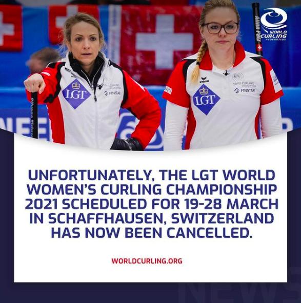 2021年女子冰壶世锦赛被取消 涉及北京冬奥资格