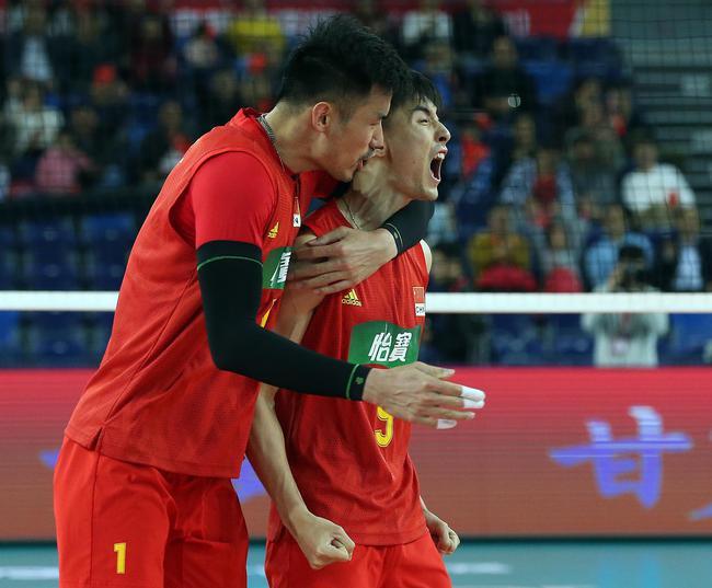 奥运资格赛中国男排3-1卡塔尔