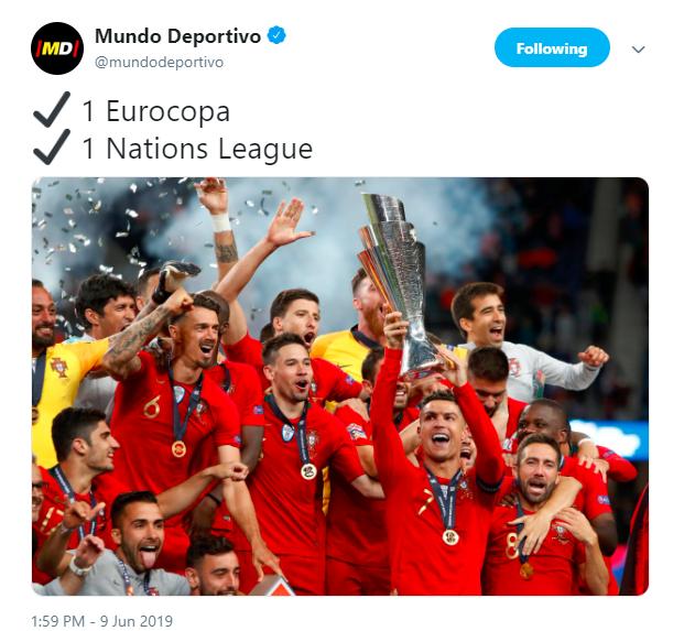《世界体育报。》发推