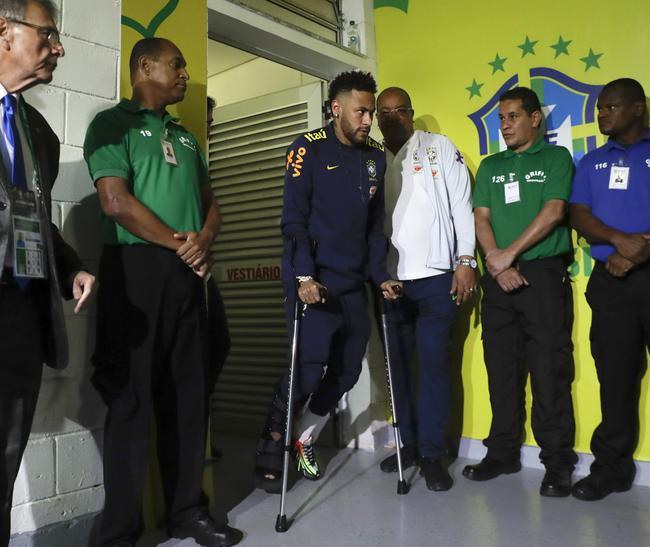 内马尔因伤缺席美洲杯