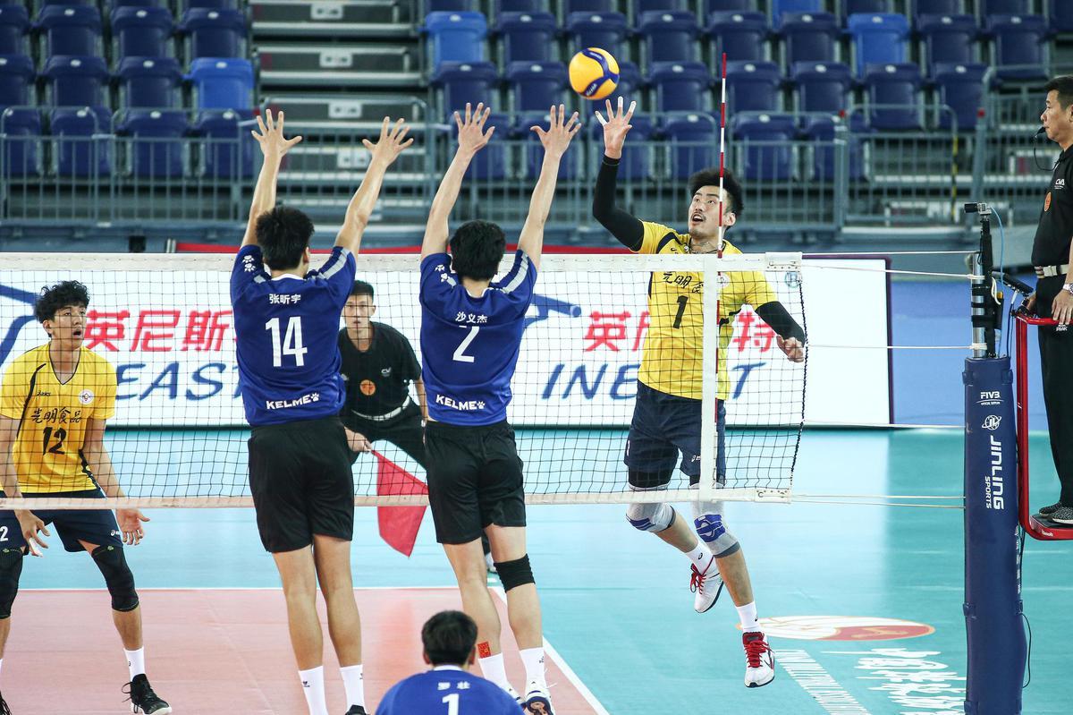 全运男排江门赛区首日 上海3-0天津山东3-2广东