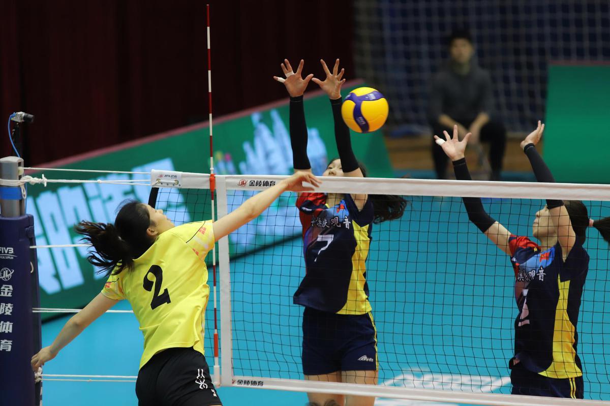 全运女排9-12名北京3-0胜云南 福建3-0战胜河北