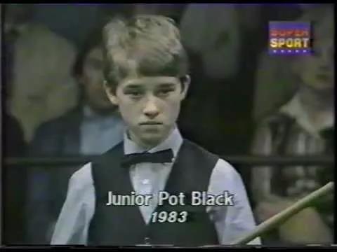 1983年亨德利参添青少年Pot Black比赛