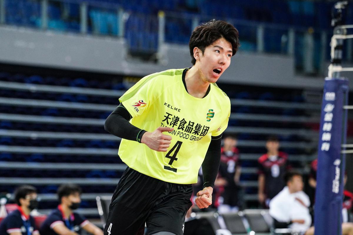 全运会男排江门赛区第三轮 北京3-2险胜广东