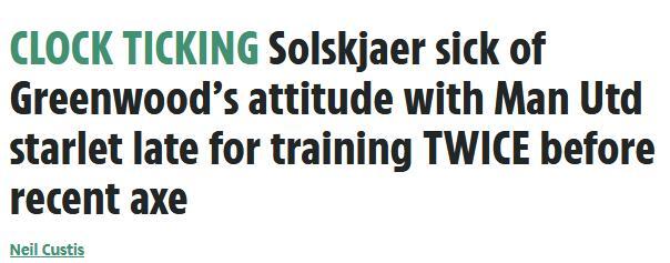 曼联超新星被弃幕后:态度不端训练迟到 索帅罚他