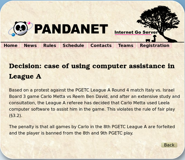 欧洲围棋团体赛现AI作弊事件 中盘98%相似Leela