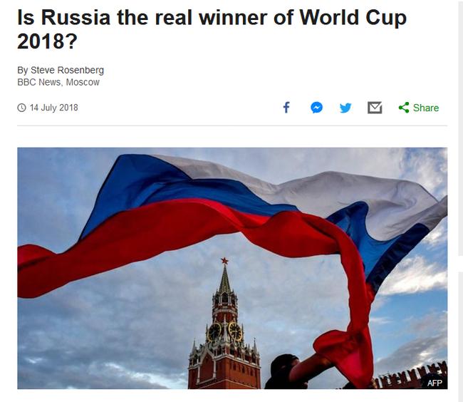 BBC:俄罗斯和普京是世界杯大赢家