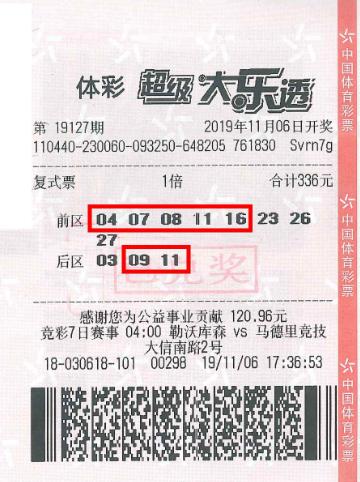 男子为赠票复式投注大乐透 揽奖1081万以为500万