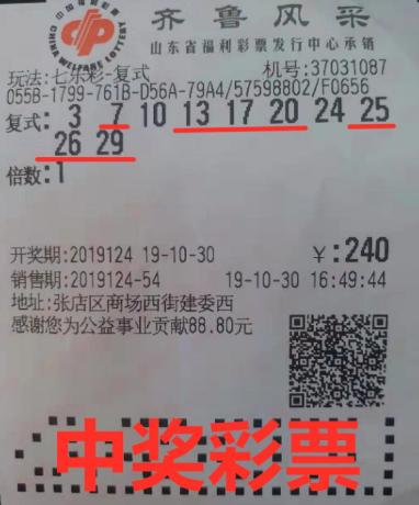 资深彩民中七乐彩头奖157万:这注号守了10年-票