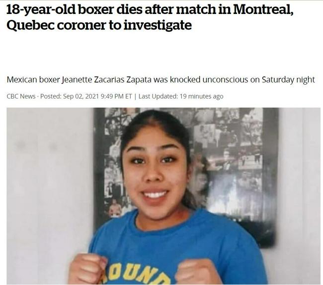 【博狗扑克】拳坛悲剧!墨西哥18岁女拳手被KO五天后死亡