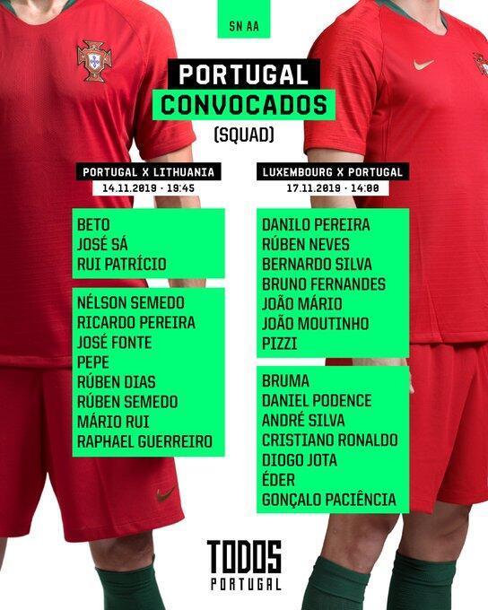 葡萄牙大名单