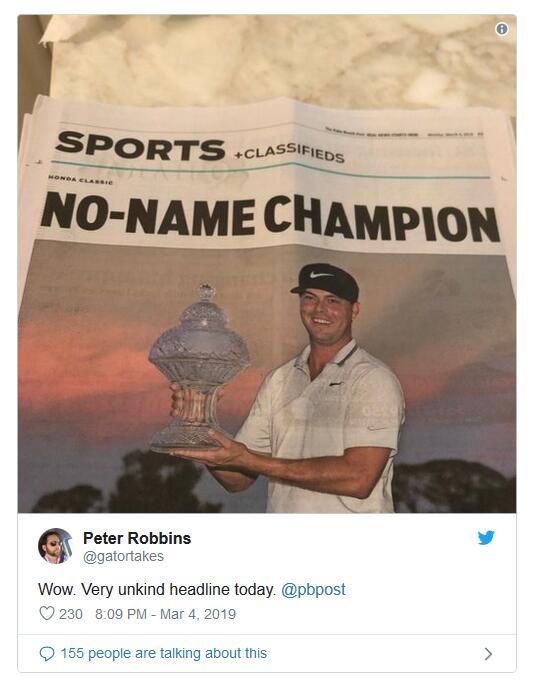 报纸整版报道米切尔夺冠却使用巨大的