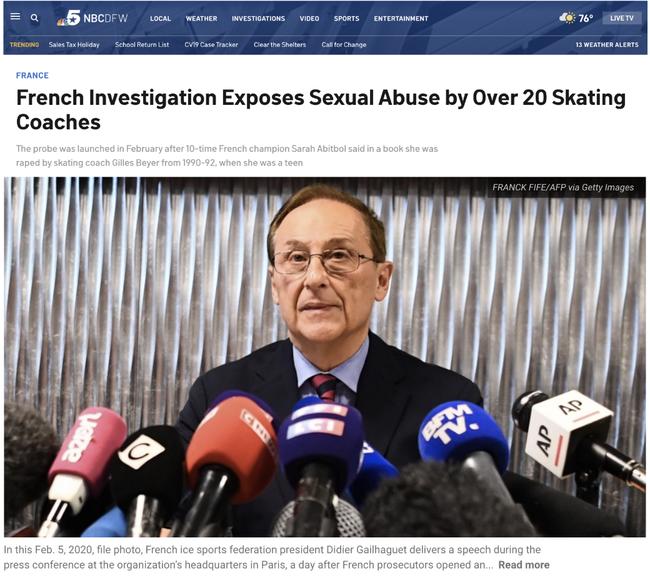法国体坛爆出惊天丑闻 运动员遭受常年性暴力