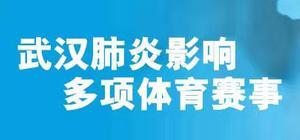 武汉疫情影响体育赛事